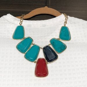 Multi color Anthropology statement necklace